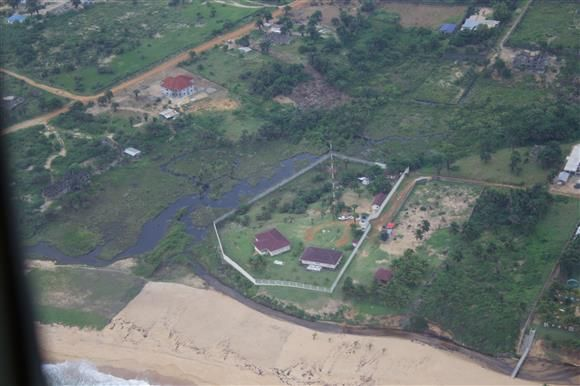 The Mission Compound from the air