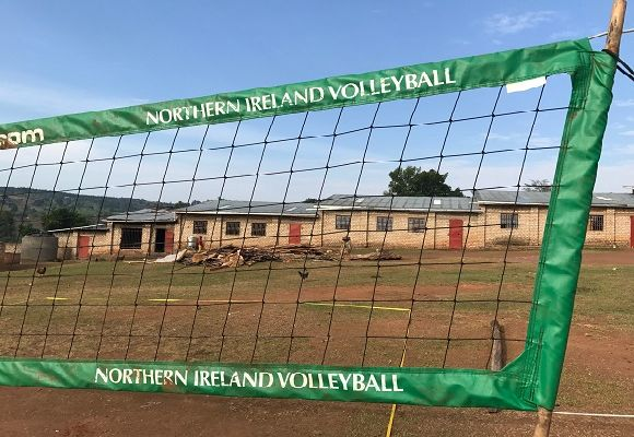 Kindly donated volleyball net