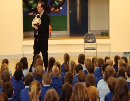 Speaking at School Assembly