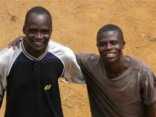 Julius & Emmanuel - two of our workers in Dwazon